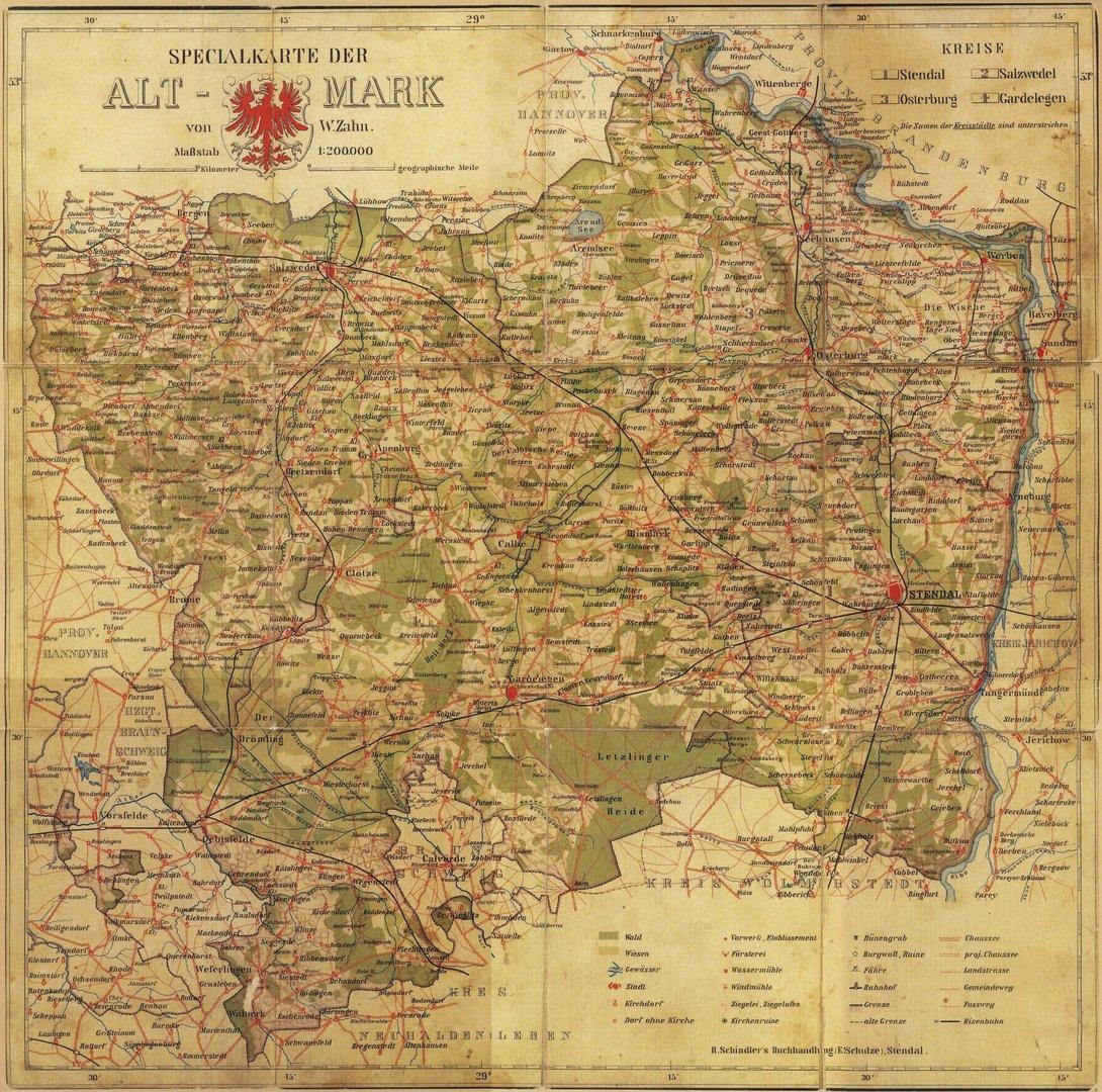 Spezialkarte  der Altmark